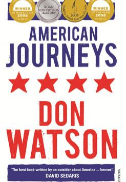Book cover- American Journeys by Don Watson