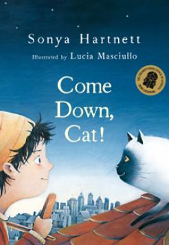 Book cover- Come Down, Cat? by Sonya Hartnett