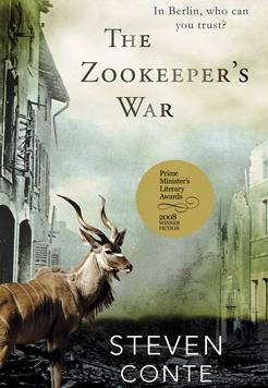 Book cover- The Zoo Keeper's War by Steven Conte