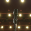 Microphone in empty theatre
