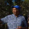 George Walley (left) and Frank Nannup talk about the Thrombolites in WA.