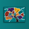Indigenous artwork showing stylised tree. Text reads National Indigenous Languages Report Now available.