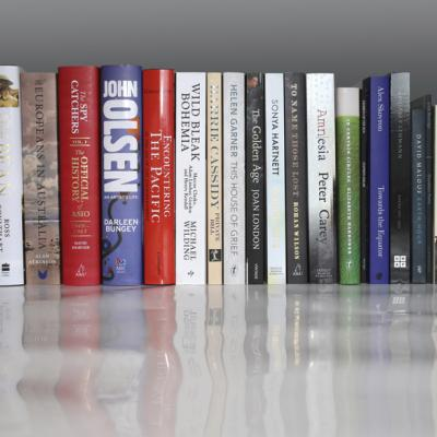 2015 PMLA shortlist entries books lined up.